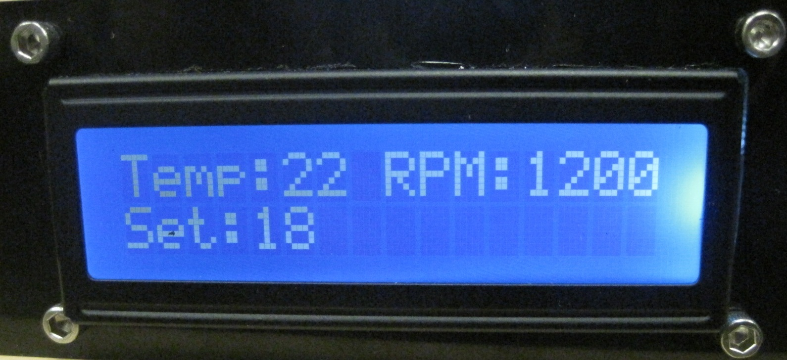 Front of LCD
