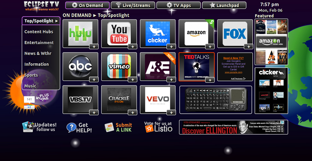 Eclipse TV Example