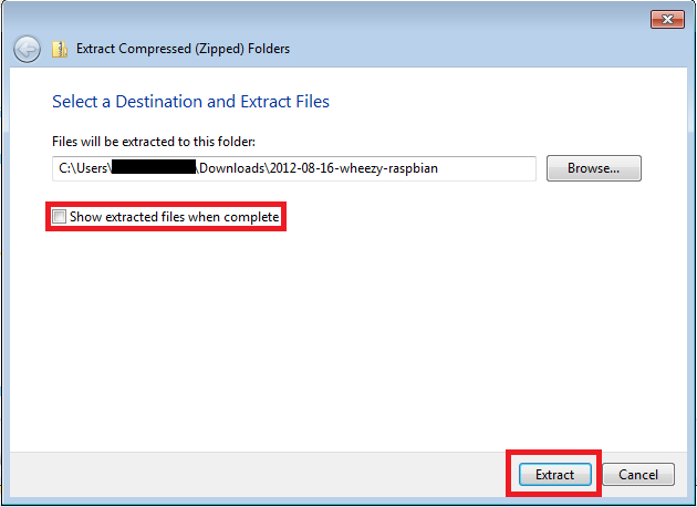 Extract Files to directory