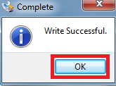 Write is successful