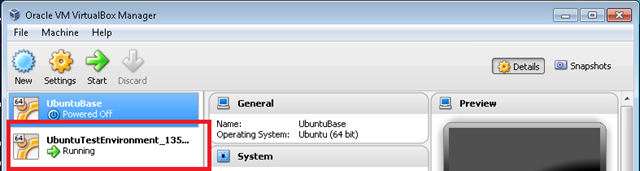 VirtualBox running a VM