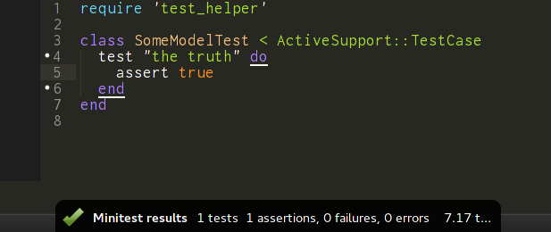 Test Case with success notification